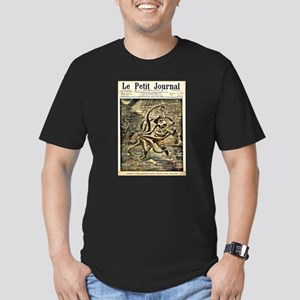 DIVER VS OCTUPUS_edited-1 Men's Fitted T-Shirt