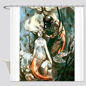 MERMAIDS AND DIVER Shower Curtain