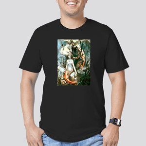 MERMAIDS AND DIVER Men's Fitted T-Shirt (dark)