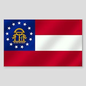 Georgia State Flag Sticker (Rectangle)