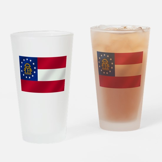 Georgia State Flag Drinking Glass