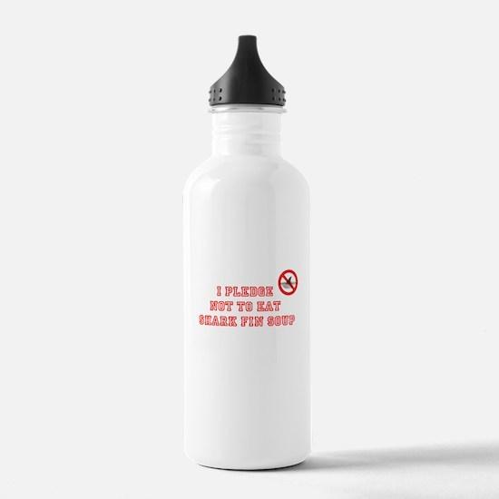 PLEDGE NOT TO EAT SHARK FIN Water Bottle