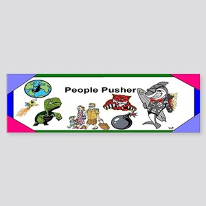 People Pusher Sticker (Bumper)