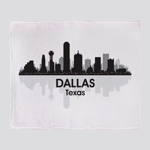 Dallas Skyline Throw Blanket