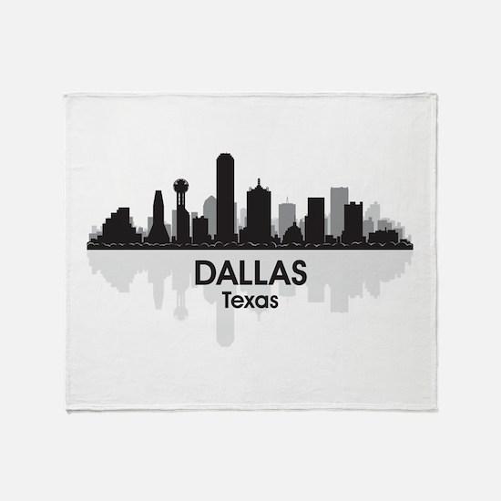 Dallas Skyline Throw Blanket
