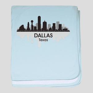 Dallas Skyline baby blanket