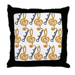 Orchestra Music Gift Throw Pillow
