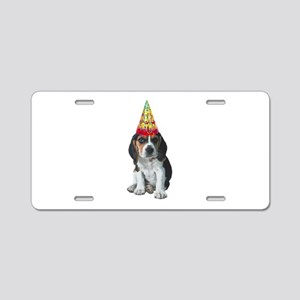 Beagle Birthday Aluminum License Plate