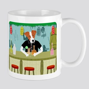 Jack Russell Terrier Tiki Bar Coffee Mug