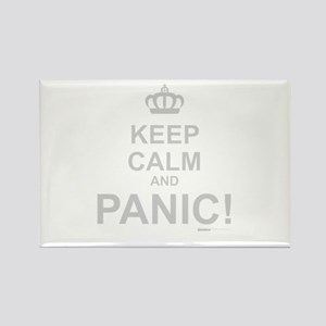 Keep Calm And Panic Rectangle Magnet