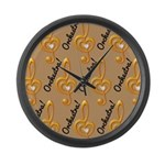 Orchestra Music Treble Clef Large Wall Clock