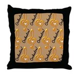 Orchestra Music Treble Clef Throw Pillow