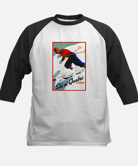 Canada Travel Poster 11 Kids Baseball Jersey