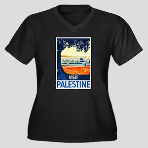Palestine Travel Poster 1 Women's Plus Size V-Neck