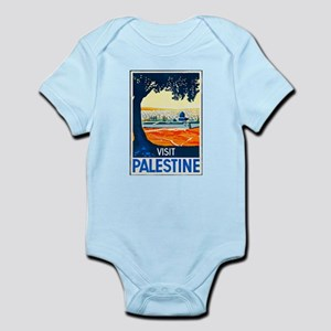 Palestine Travel Poster 1 Infant Bodysuit