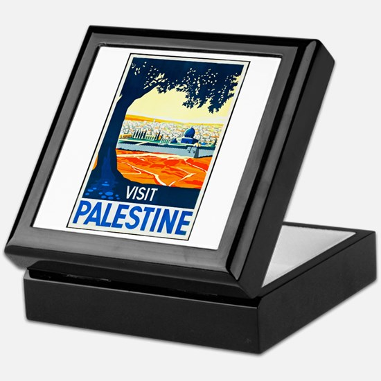 Palestine Travel Poster 1 Keepsake Box
