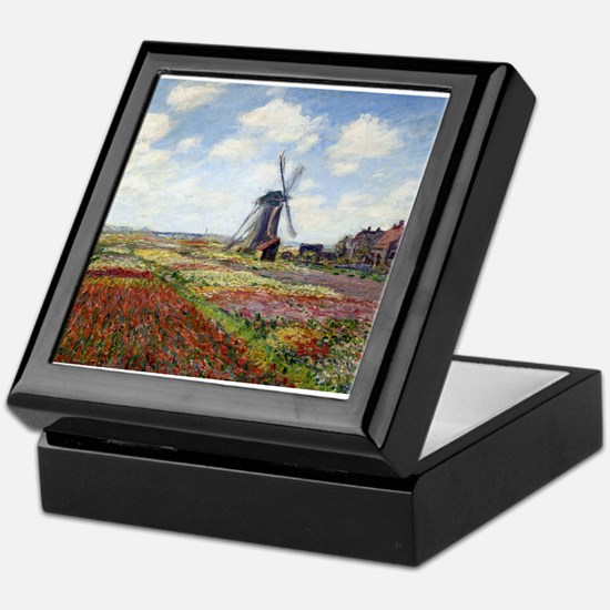 Monet Fields Of Tulip Keepsake Box