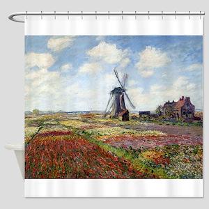 Monet Fields Of Tulip Shower Curtain