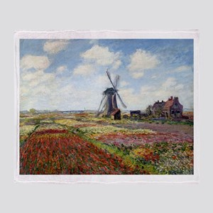 Monet Fields Of Tulip Throw Blanket