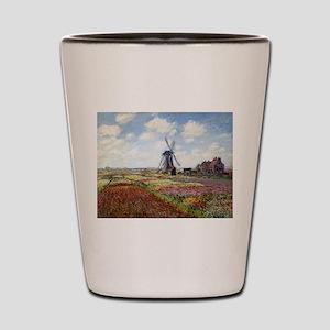 Monet Fields Of Tulip Shot Glass