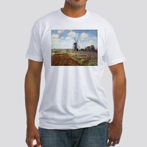 Monet Fields Of Tulip Fitted T-Shirt