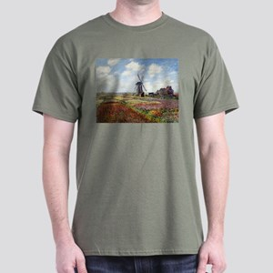 Monet Fields Of Tulip Dark T-Shirt