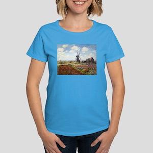 Monet Fields Of Tulip Women's Dark T-Shirt