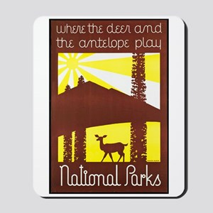 National Parks Travel Poster 3 Mousepad