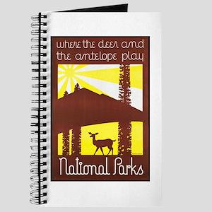 National Parks Travel Poster 3 Journal