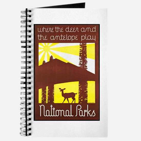 National Parks Travel Poster 3 Journal