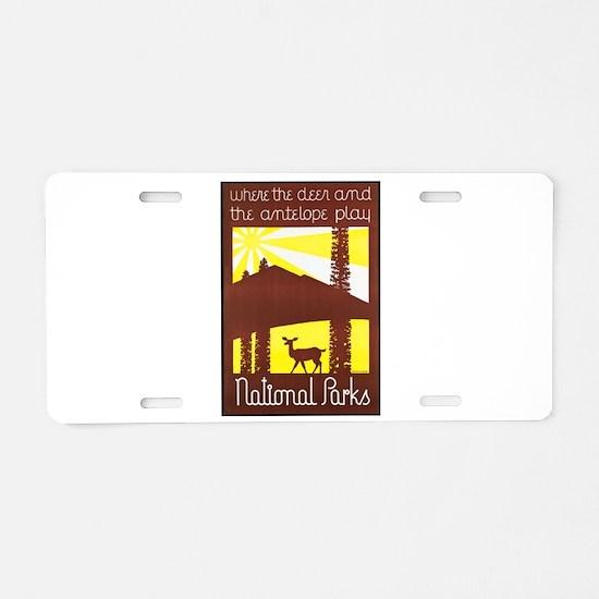 National Parks Travel Poster 3 Aluminum License Pl