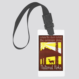 National Parks Travel Poster 3 Large Luggage Tag