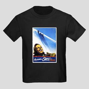 Canada Travel Poster 2 Kids Dark T-Shirt
