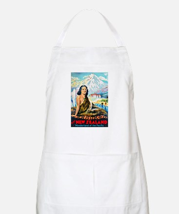 New Zealand Travel Poster 2 Apron
