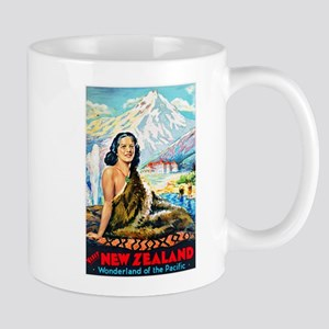 New Zealand Travel Poster 2 Mug