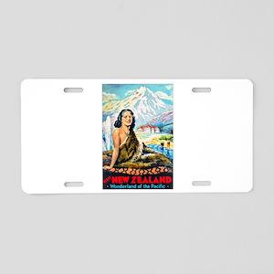 New Zealand Travel Poster 2 Aluminum License Plate