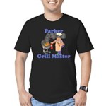 Grill Master Parker Men's Fitted T-Shirt (dark)