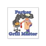 Grill Master Parker Square Sticker 3