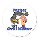 Grill Master Parker Round Car Magnet