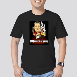 BBQSuperStars Men's Fitted T-Shirt (dark)