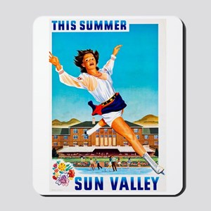 Sun Valley Travel Poster 1 Mousepad