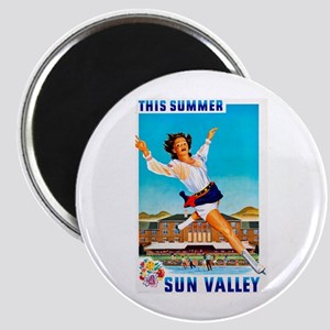 Sun Valley Travel Poster 1 Magnet