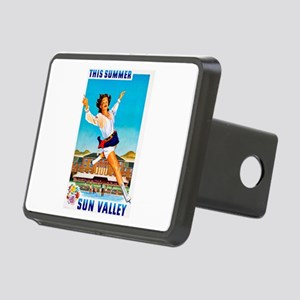 Sun Valley Travel Poster 1 Rectangular Hitch Cover