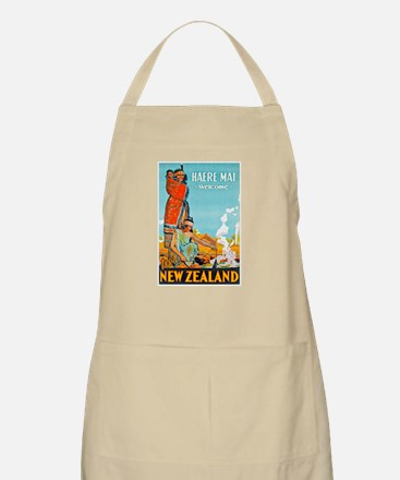 New Zealand Travel Poster 3 Apron