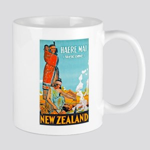 New Zealand Travel Poster 3 Mug