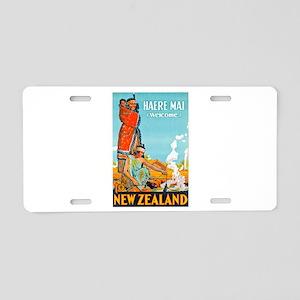 New Zealand Travel Poster 3 Aluminum License Plate