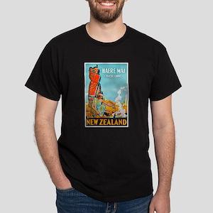 New Zealand Travel Poster 3 Dark T-Shirt