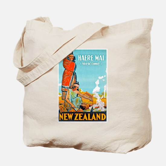 New Zealand Travel Poster 3 Tote Bag
