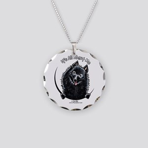 Schipperke IAAM Necklace Circle Charm