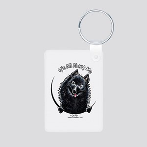 Schipperke IAAM Aluminum Photo Keychain